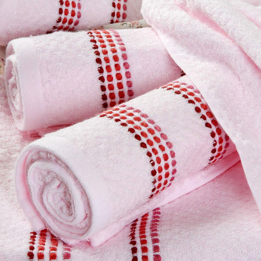 隆祥 粉色米色蓝色竹纤维洁面美容毛巾百搭型 毛巾