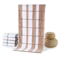 灰色棕色各三条纯棉面巾百搭型 面巾