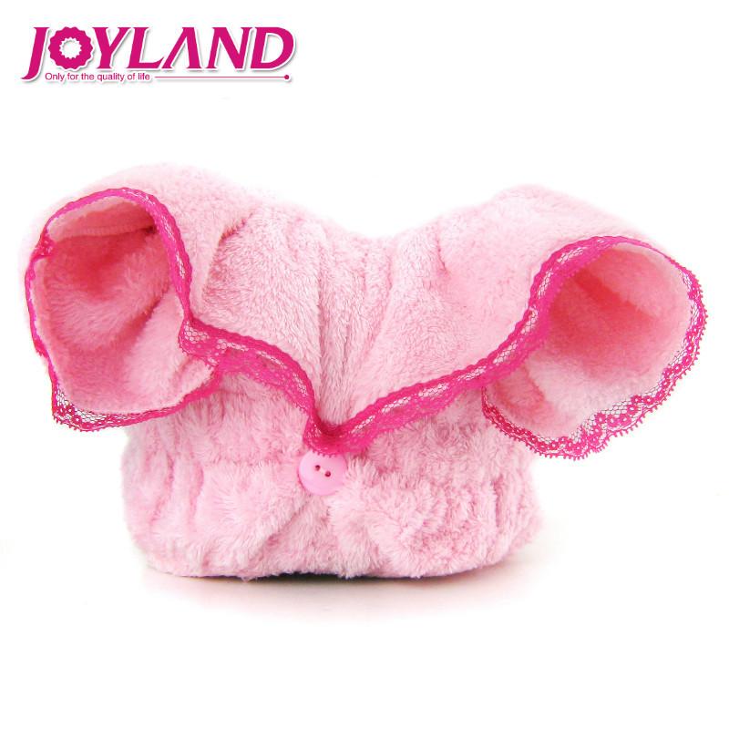 姣蘭 粉紅色蕾絲枚紅色蕾絲個人洗漱/清潔/護理通用 干發巾