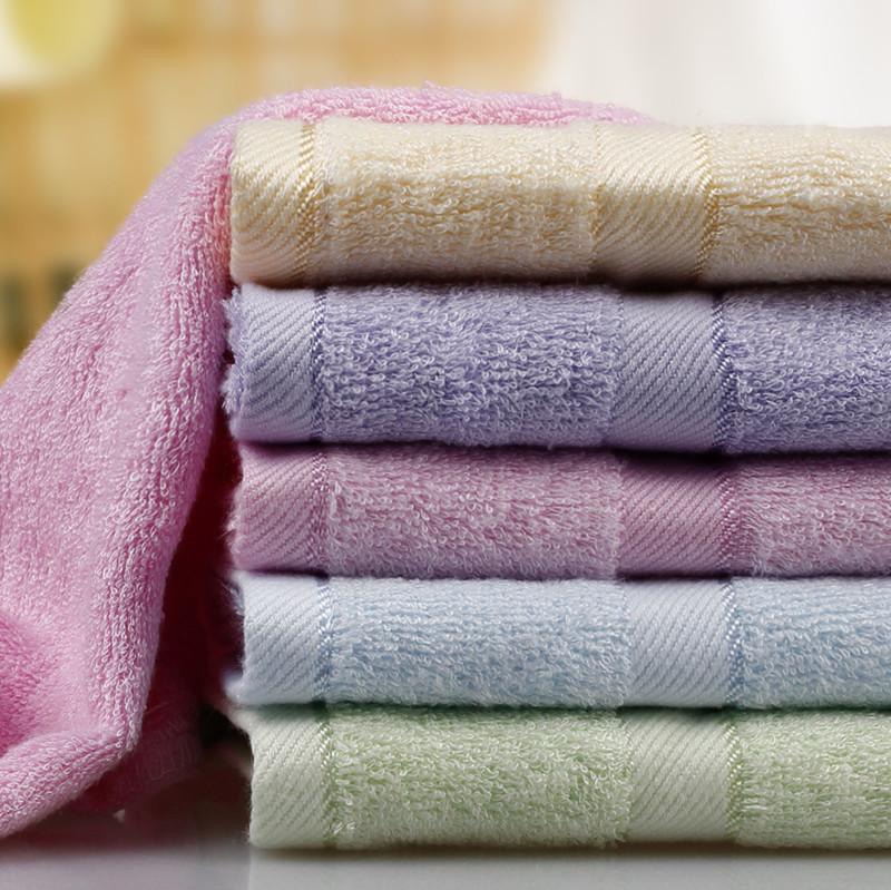 老蔡竹木黄色蓝色粉色紫色绿色竹纤维面巾百搭型毛巾