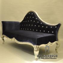 图片反方向图片方向U形木质工艺雕刻桦木海绵新古典 贵妃椅