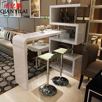 白色(现货)密度板/纤维板支架结构旋转艺术简约现代 吧台