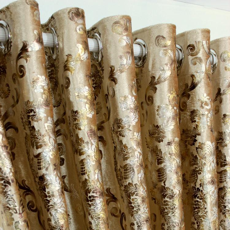 典尚美家 布簾+紗簾裝飾+半遮光平帷蕩度打孔簾歐式 窗簾