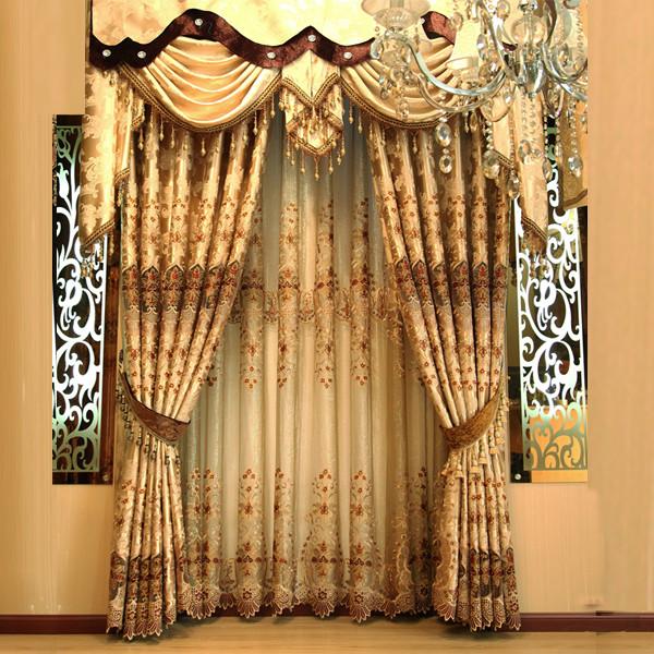 莎瑞每米纱每米布布帘纱帘装饰半遮光平帷荡度混纺植物花卉飘窗落地窗平面窗欧式-窗帘