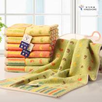 黄桔绿各一条纯棉</=5s面巾百搭型 毛巾