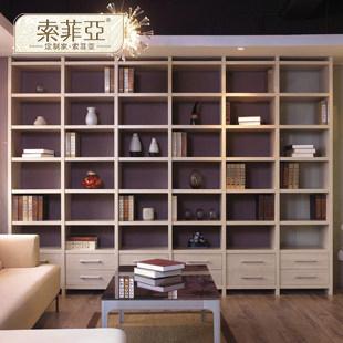 索菲亚 元/组人造板光面密度板/纤维板三聚氰胺板框架结构储藏各国风情成人简约现代 书柜