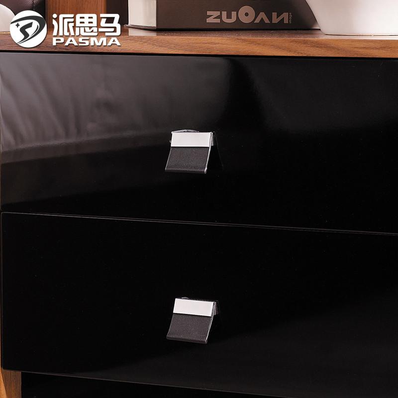 派思马胡桃木色箱框结构核桃木储藏成人简约现代-床头柜