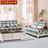 精益美家美式实木沙发组合 欧式布艺沙发1+2+3客厅沙发组合