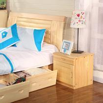 箱框结构松木储藏抽象图案成人田园 床头柜