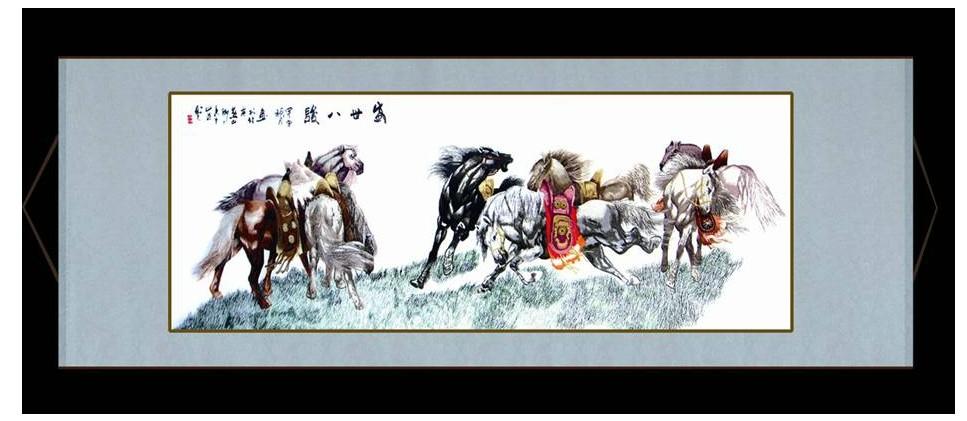 平针绣现代中式 刺绣