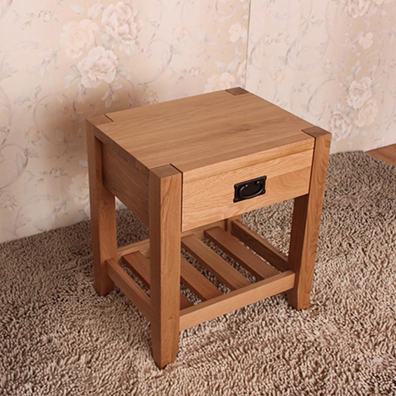 原始原素 原木色无框架结构橡木多功能成人简约现代 床头柜