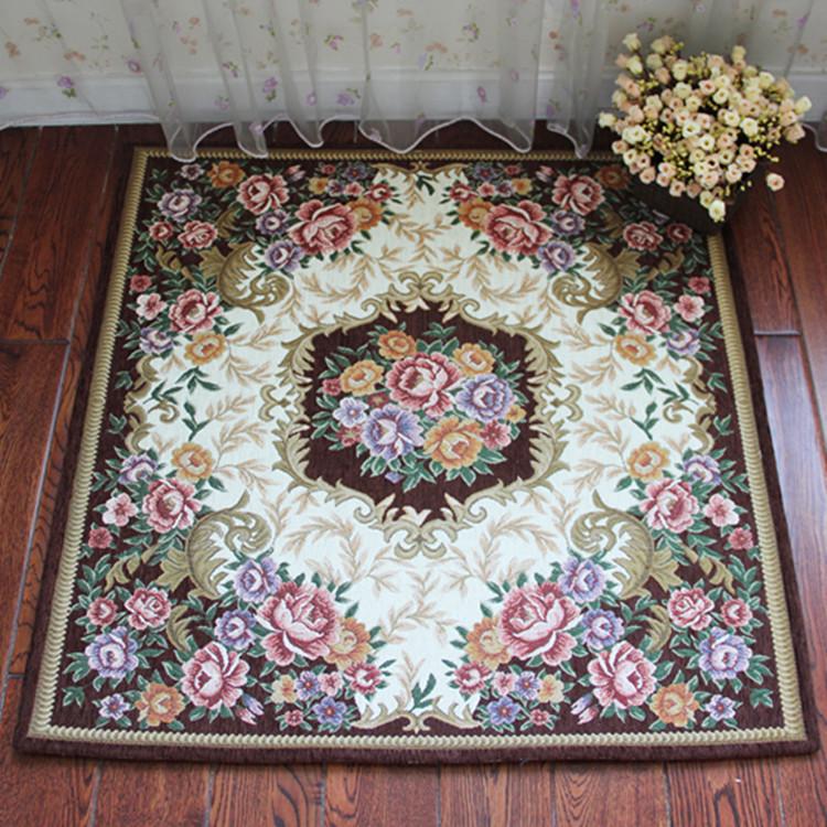 利多地毯 化纤可手洗可机洗欧式腈纶正方形田园 地毯