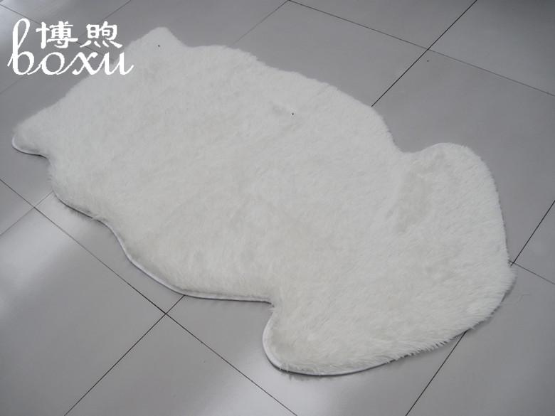 博煦 仿羊毛米白色混纺美式乡村纯色中国风机器织造 地毯