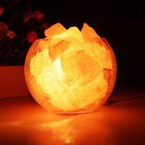 水晶盐灯玻璃简约现代LED 盐灯