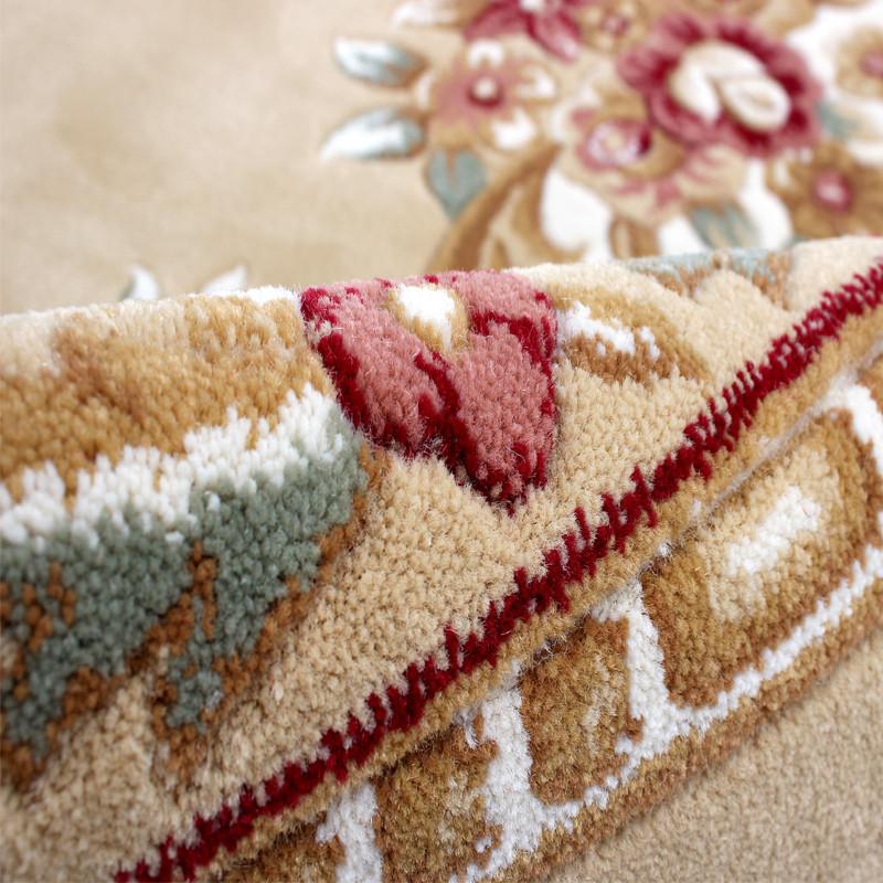 东方 化纤欧式丙纶植物花卉长方形欧美机器织造 700纬剪花地毯地毯