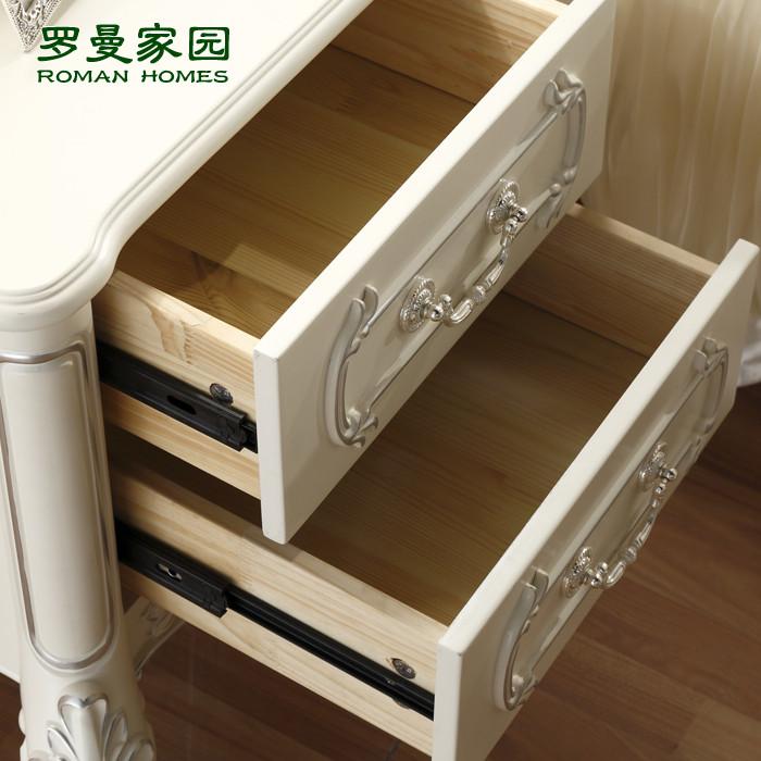 罗曼家园 荷花白支架结构多功能成人欧式 床头柜