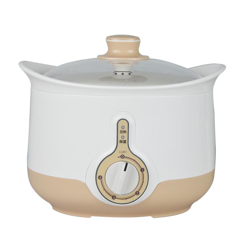 美的 白色陶瓷全国联保煲汤煮粥炖焖机械式 md-bzh22a电炖锅