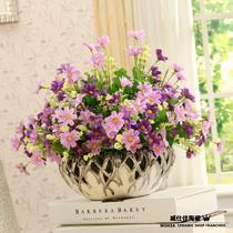 花盆含花单个花盆陶瓷简约现代 花盆