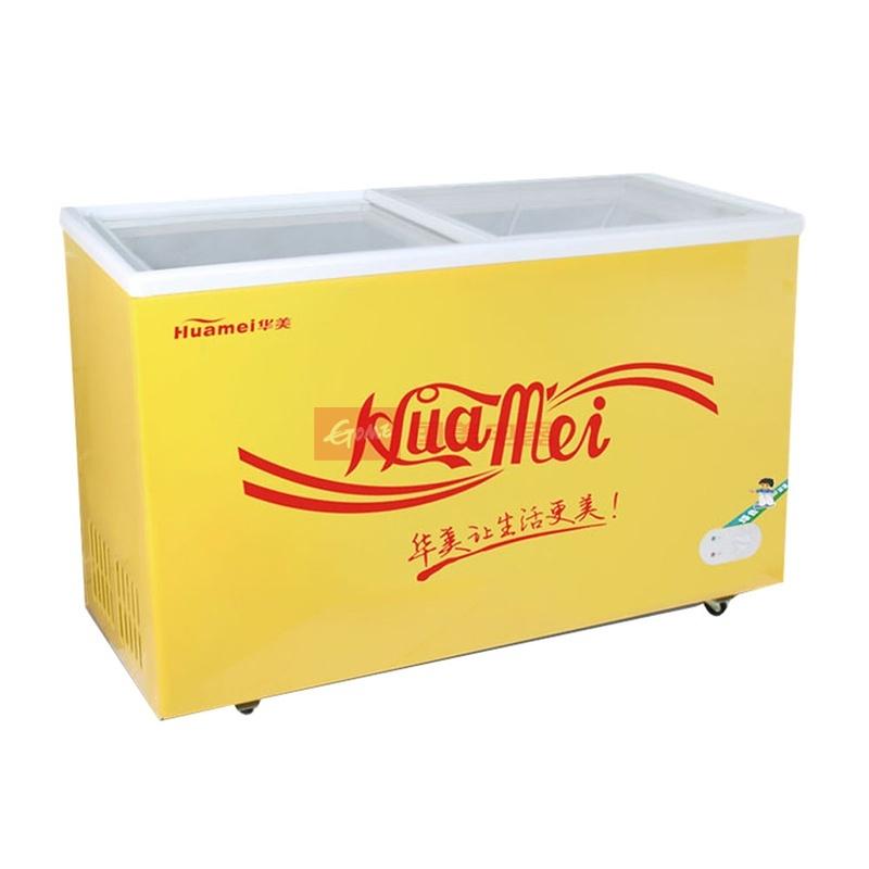 华美 黄色机械式定频 冷柜