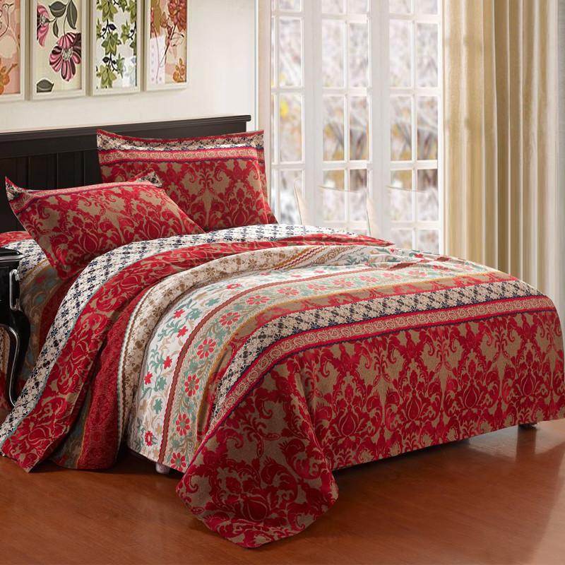 皇家皇朝 全棉所有人群四件套床单式欧洲风格磨毛 艾琳床品件套四件套