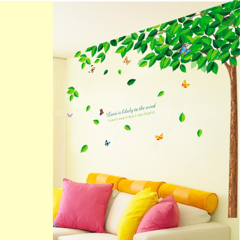 省心环保可移除平面墙贴风景墙贴