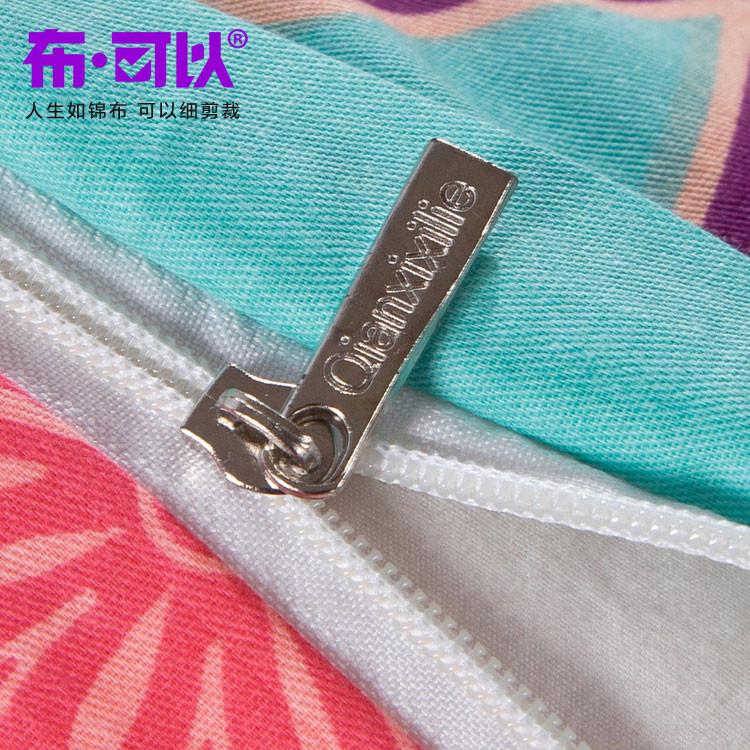 布可以 涂料印花简约现代一等品植物花卉床单式简约风 床品件套四件套