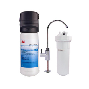 3M 不锈钢滤网纳滤终端净水活性炭直饮净水机 DWS 2000-CN净水器