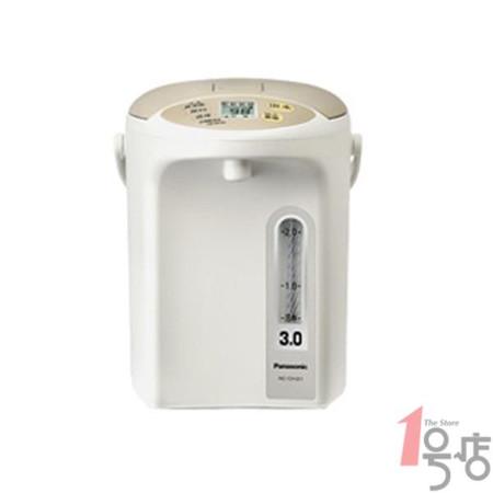 松下 米色日本技术温控塑料电热开水瓶3L底盘加热 电水壶