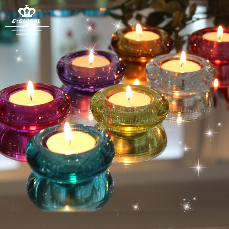 艺宝格 玻璃杯状蜡烛块状蜡烛欧式 XZB002烛台