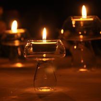 玻璃块状蜡烛欧式 ZT003烛台