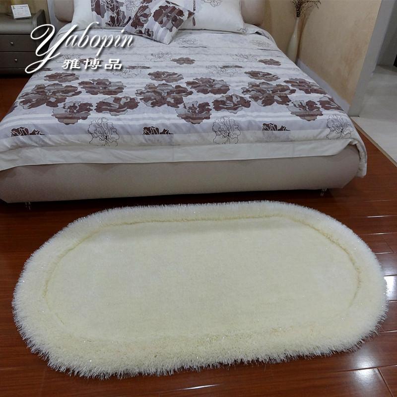 雅博品 蚕丝现代中式纯色长方形中国风机器织造 地毯