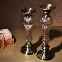 高矮套装矮款高款玻璃块状蜡烛欧式 烛台