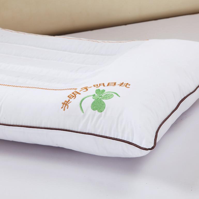 如玉家纺 决明子涤棉花草长方形 枕头