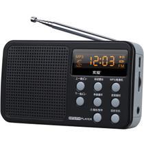 蓝色工程塑料智能语音提示数字显示屏 收音机