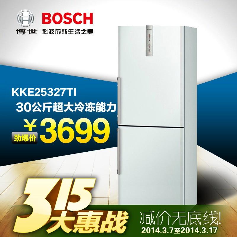 博世 左开门双门定频一级冷藏冷冻KKE25327TI冰箱 冰箱
