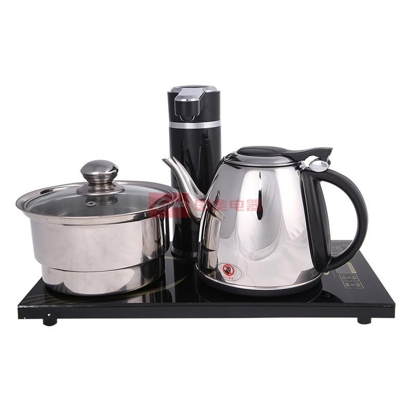 欧博 黑色不锈钢电水壶电加热 电水壶