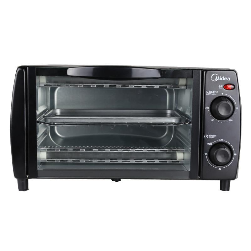 美的 黑色上下管统一控温全国联保机械式卧式 电烤箱