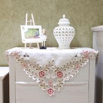 布植物花卉田园 绣花床头柜罩桌旗