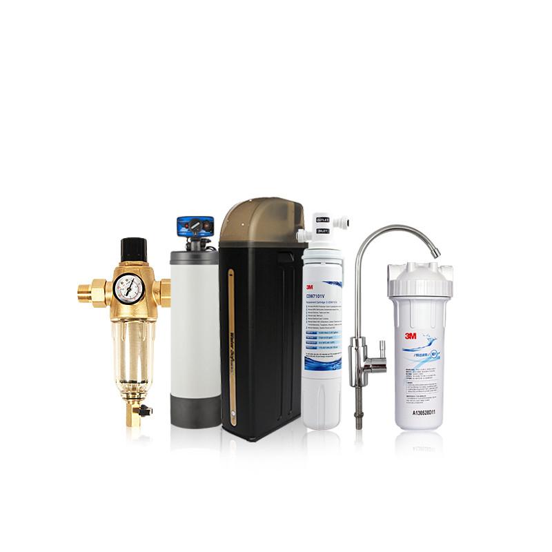 3M 中央净水活性炭直饮 雅马哈40Z+恩美特中央净水+开能软水+3M净水器净水器