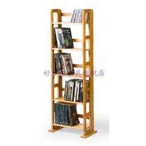 木质工艺涂饰框架结构松木折叠置地用抽象图案简约现代 CD架