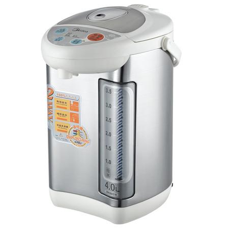 美的 银色不锈钢电热开水瓶4L内置加热片加热 电水壶
