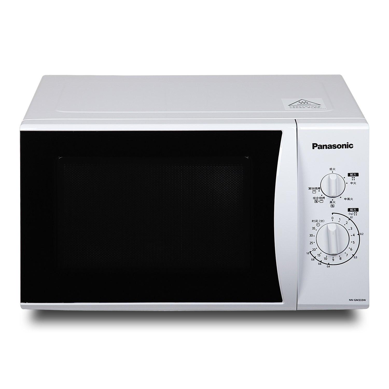 松下 银色NN-GF342M微波炉按门式透明平板式全国联保微波烧烤电脑式 微波炉