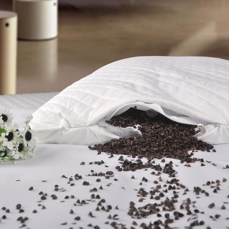艺被 荞麦壳斜纹布优等品棉布花草长方形 枕头