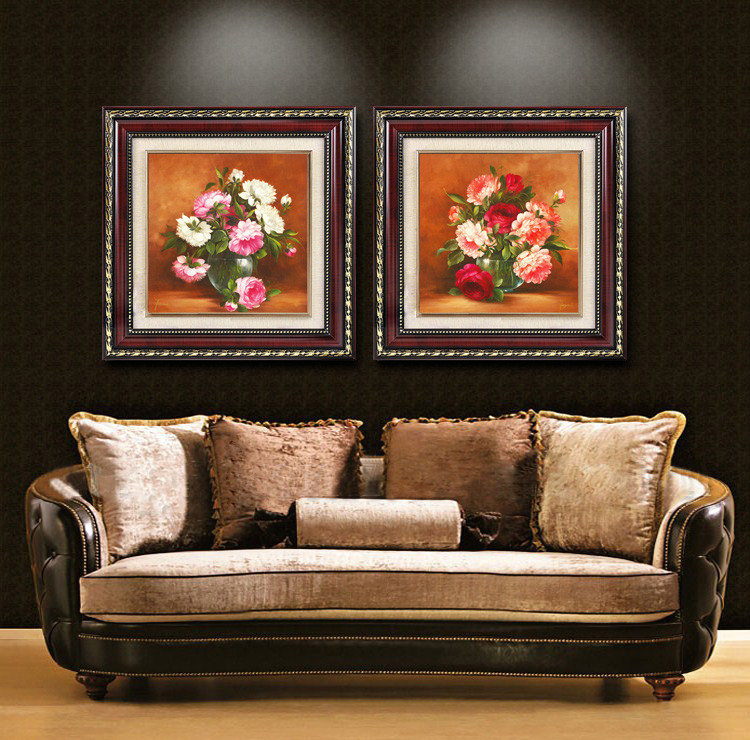 欧喆平面进口高分子环保外框有框单幅价格植物花卉喷绘装饰画