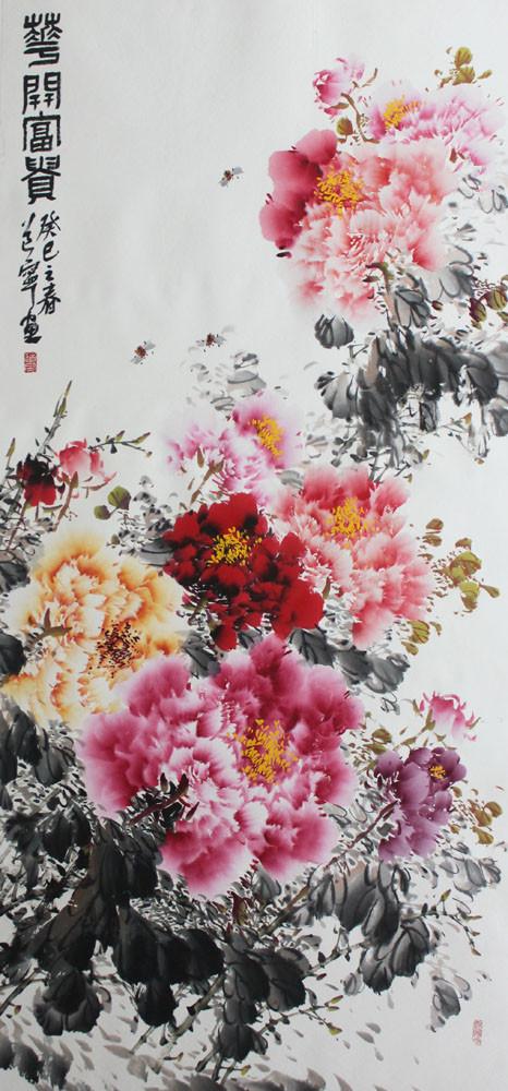 锦翰堂有框独立植物花卉-国画