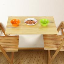 支架结构松木折叠简约现代 HMJ6040折叠桌