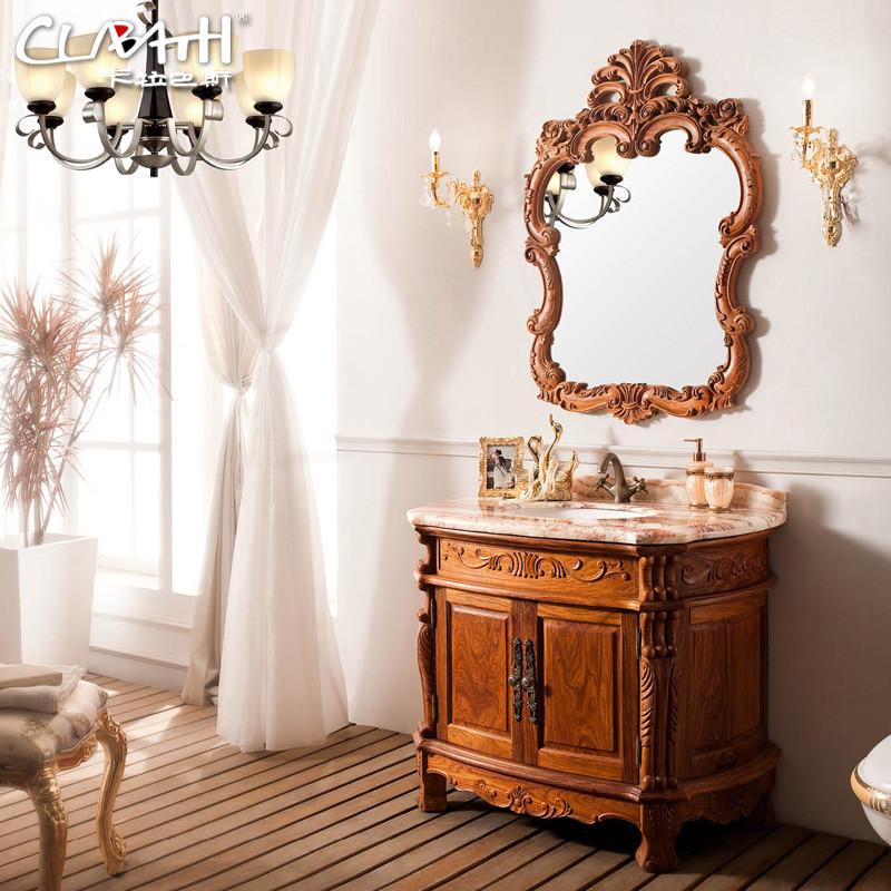 卡拉巴斯 含带配套面盆大理石台面欧式 kb-hl898浴室柜