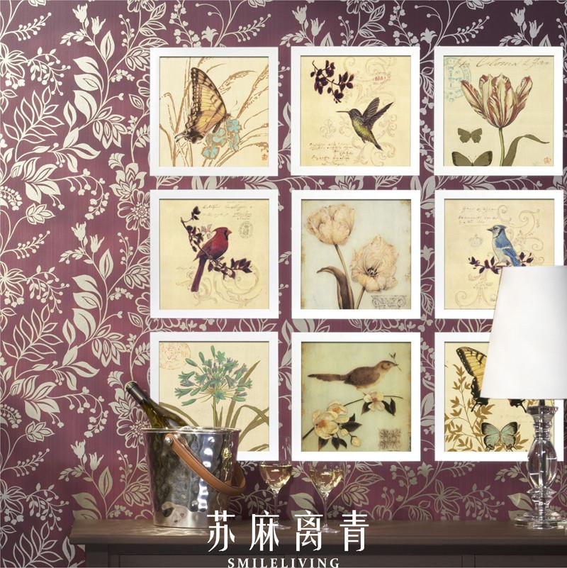 苏麻离青平面有框独立喷绘装饰画