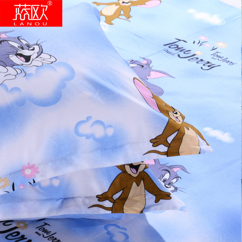 藍歐 涂料印花韓式卡通動漫床單式卡通風 床品件套四件套