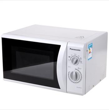 松下 灰色白色微波炉手拉式平板转盘式全国联保无微波烧烤涂层电脑式 微波炉